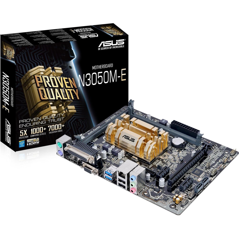 Asus N3150M-E Desktop Motherboard - Intel Chipset - Socket BGA-1170 - Intel Celeron N3150 Quad-core 4 Core 2.08 GHz - Micro ATX - 8 GB DDR3 SDRAM Maximum RAM - 1.6