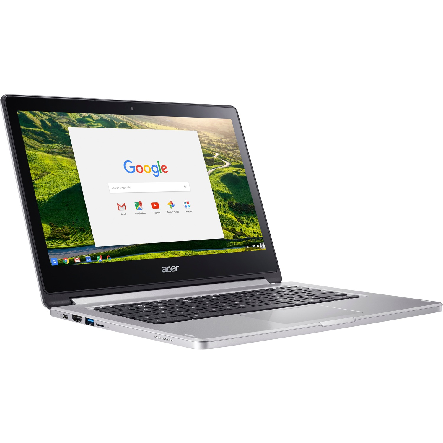 Acer CB5-312T-K1TR 33.8 cm 13.3inch Touchscreen LCD Chromebook - MediaTek M8173C Quad-core 4 Core 2.10 GHz - 4 GB LPDDR3 - 64 GB Flash Memory - Chrome OS - 1920 x 1