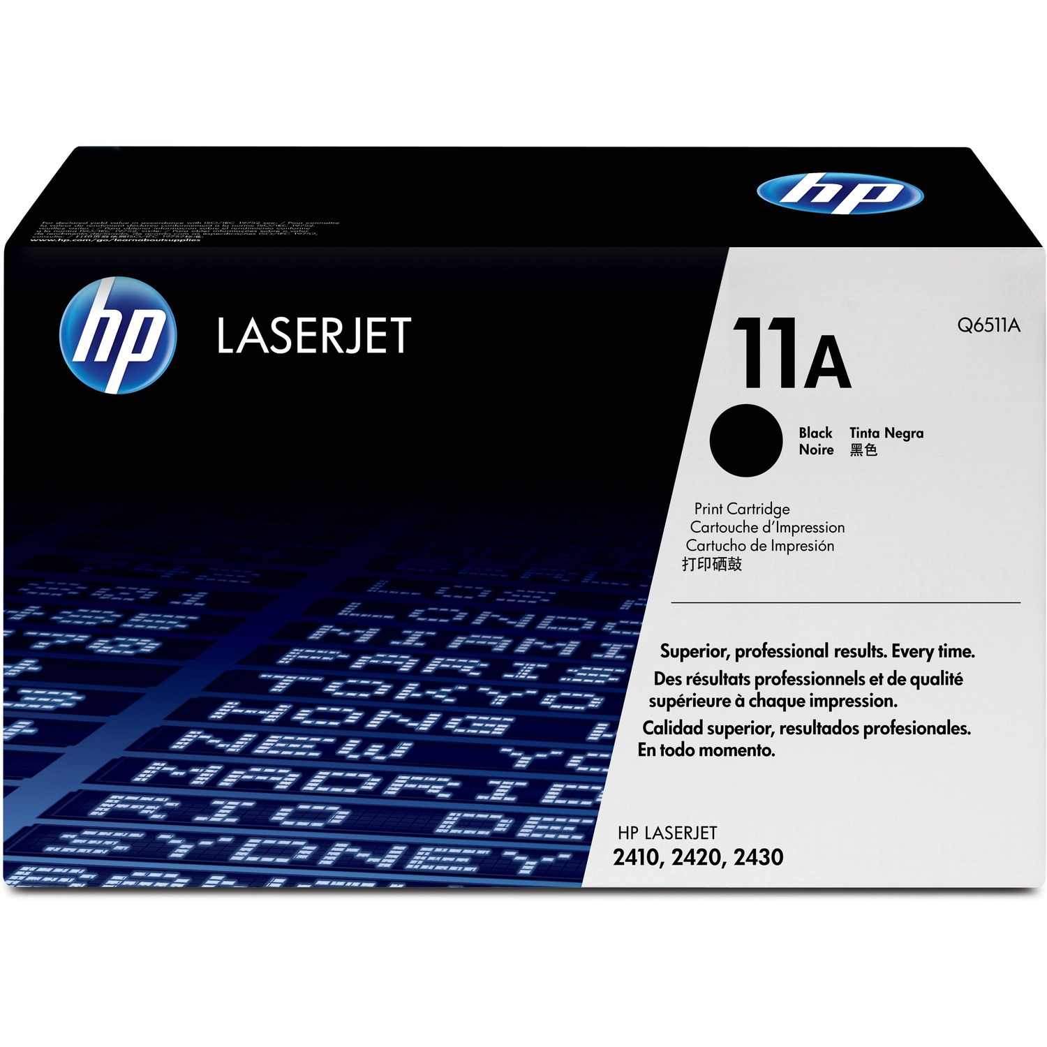 HP 11A Toner Cartridge - Black - Laser - 6000 Page - 1 Each