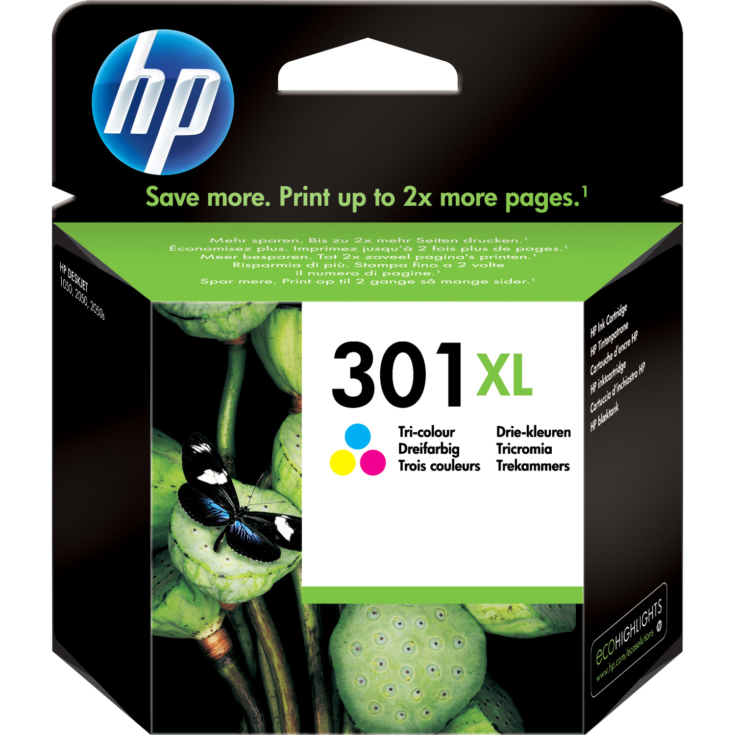 HP 301XL Ink Cartridge - Cyan, Magenta, Yellow
