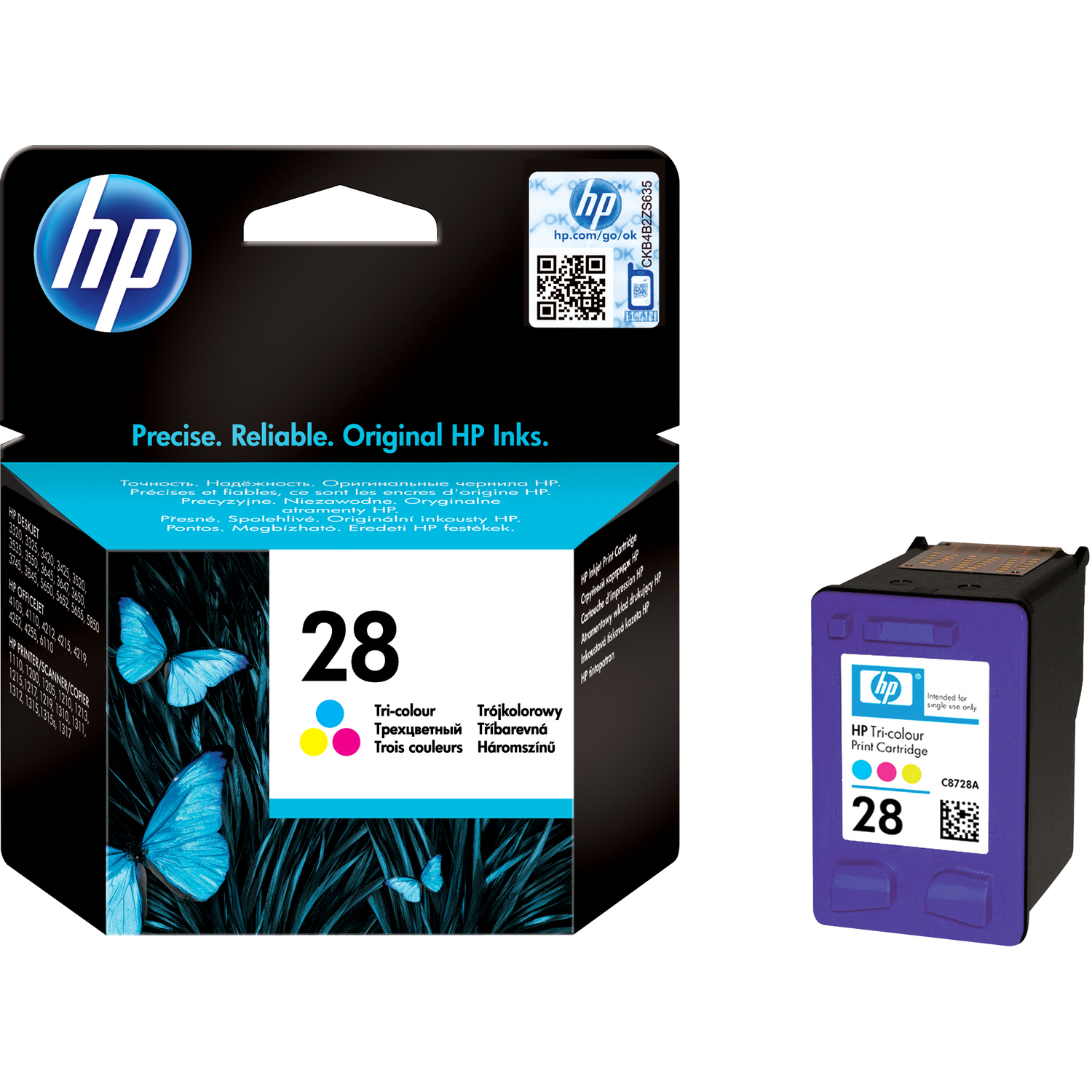 HP No. 28 Ink Cartridge - Cyan, Magenta, Yellow