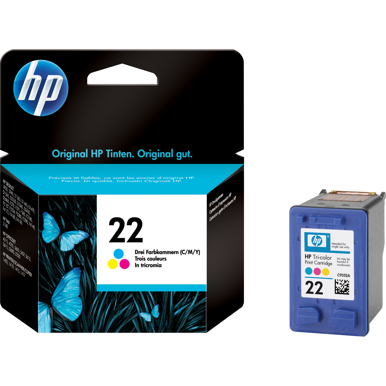 HP No. 22 Ink Cartridge - Colour