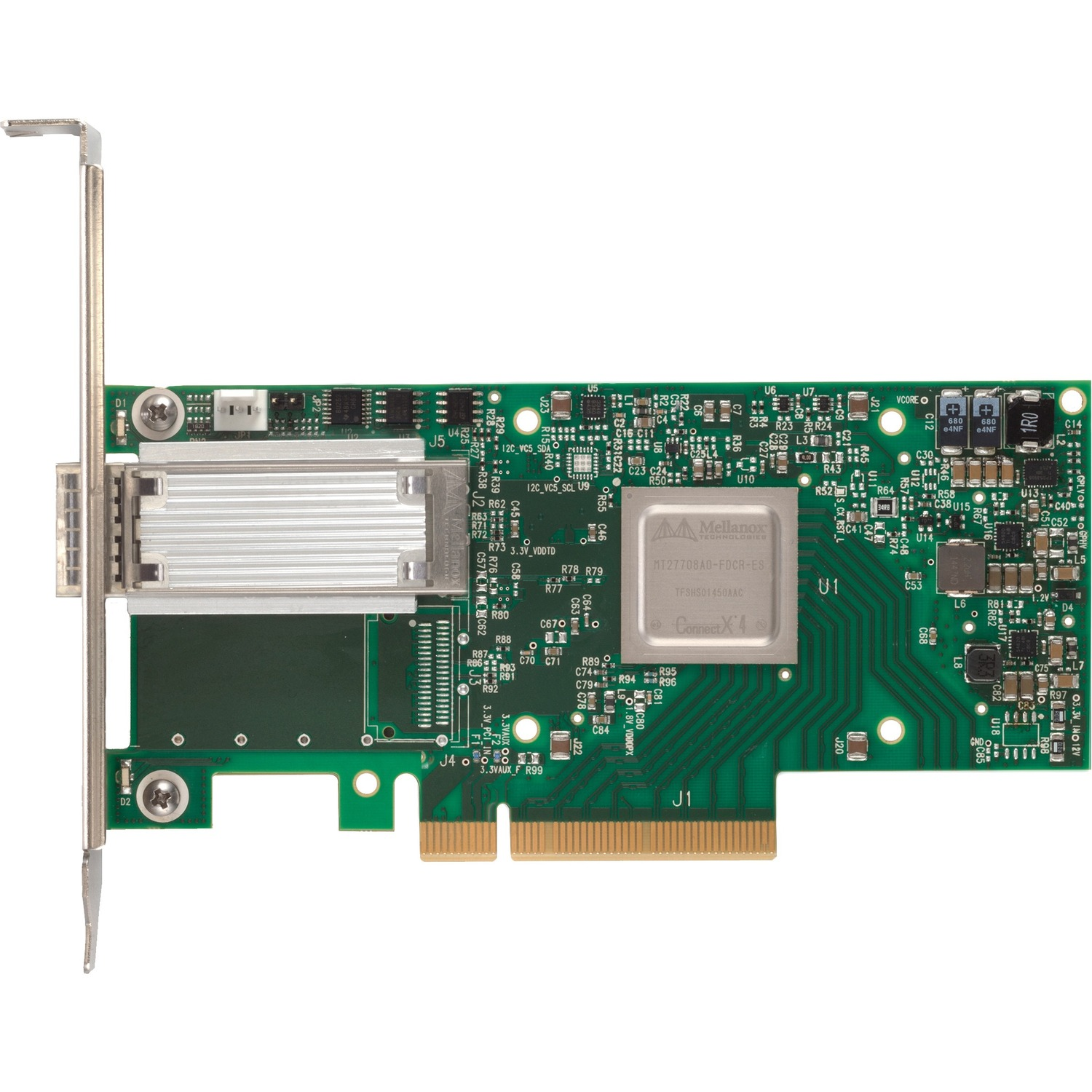 Mellanox ConnectX-4 100Gigabit Ethernet Card for Server - PCI Express 3.0 x16 - 1 Ports - Optical Fiber