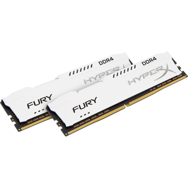 Kingston HyperX Fury RAM Module - 32 GB 2 x 16 GB - DDR4 SDRAM - 2666 MHz DDR4-2666/PC4-21300 - 1.20 V - Unbuffered - CL16 - 288-pin - DIMM