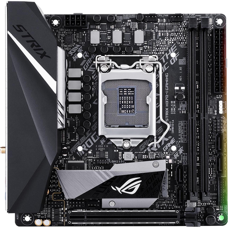 ROG Strix H370-I GAMING Desktop Motherboard - Intel Chipset - Socket H4 LGA-1151 - Mini ITX - 1 x Processor Support - 32 GB DDR4 SDRAM Maximum RAM - 2.67 GHz, 2.40 G