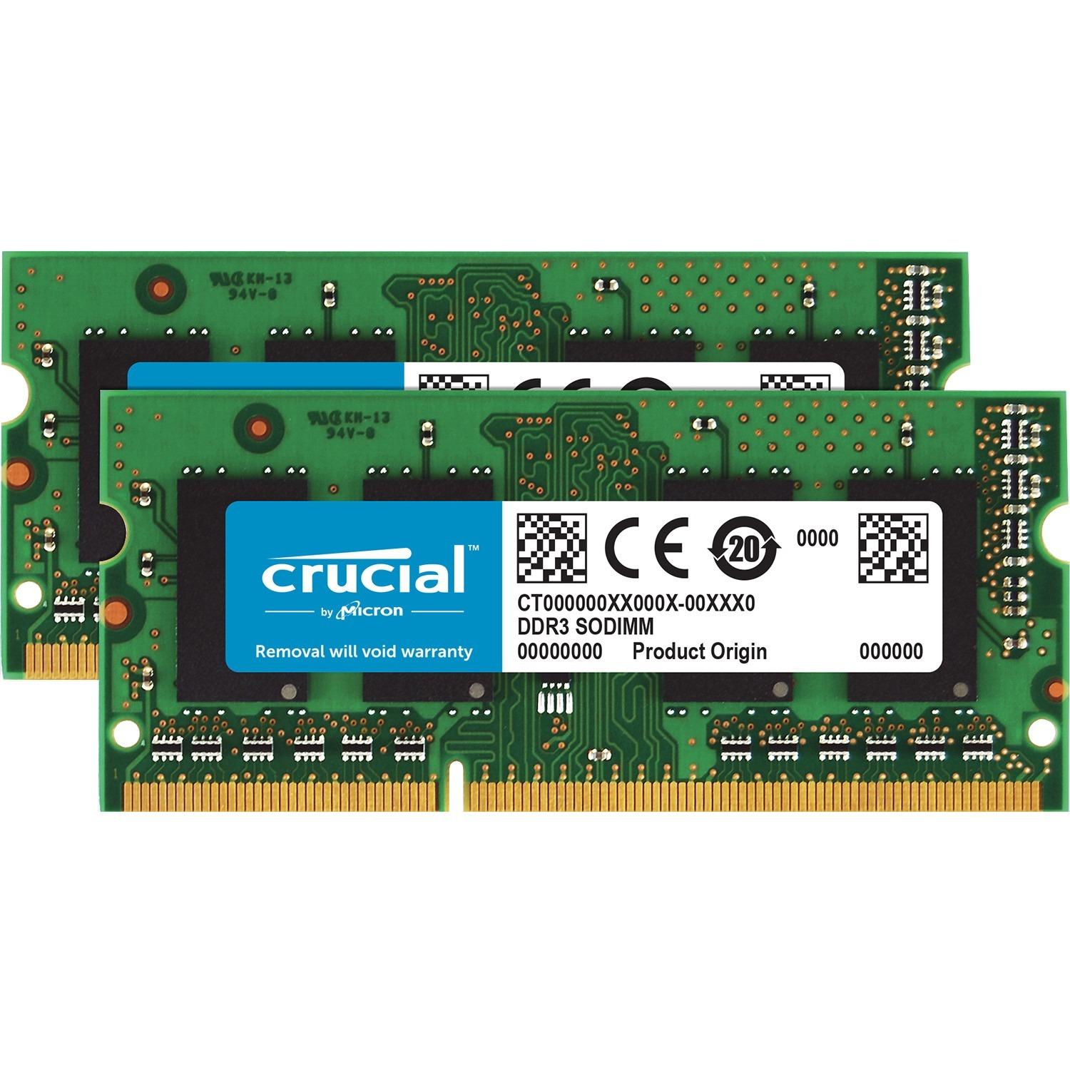 Crucial RAM Module - 16 GB 2 x 8 GB - DDR3-1600/PC3-12800 DDR3 SDRAM - CL11 - 1.35 V - Non-ECC - Unbuffered - 204-pin - SoDIMM
