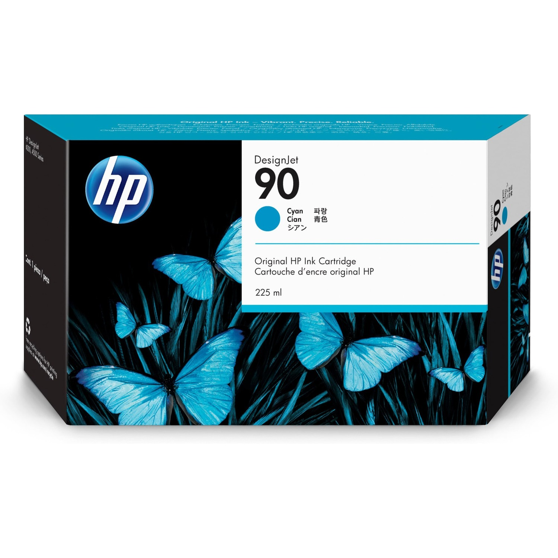 HP 90 Cyan Ink Cartridge 225ml