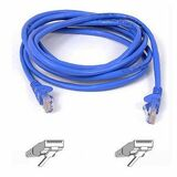 Belkin Cat5e Patch Cable - 40 ft Category 5e Network Cable - First End: 1 x RJ-45 Male Network - Second End: 1 x RJ-45 Male Network - Patch Cable - Blue