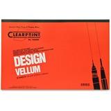"Clearprint Design Vellum Pad - Tabloid - 50 Sheets - Plain - 16 lb Basis Weight - 11"" x 17"" - White Paper - Acid-free, Archival - 1Pad"