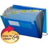 "Smead Ultra Color Expanding Transport Files - Letter - 8 1/2"" x 11"" Sheet Size - 7/8"" Expansion - 12 Pocket(s) - 12 Divider(s) - Poly - Blue - 1 / Each"