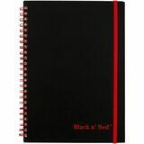 Black n' Red Wirebound Semi - rigid Cover Ruled Notebook - A5
