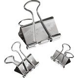 Acco Silver Finish Presentation Binder Clips - 110 Sheet Capacity - Long Lasting, Non-slip Grip, Durable - 1 / Pack - Metal, Tempered Steel