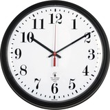 """Chicago Lighthouse 13.75"""" Black Contract Commercial/Residential Quartz Movement Wall Clock"""