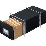 "Bankers Box Staxonsteel® - Letter - Internal Dimensions: 12"" (304.80 mm) Width x 24"" (609.60 mm) Depth x 10.50"" (266.70 mm) Height - External Dimensions: 14"" Width x 25.5"" Depth x 11.1"" Height - Media Size Supported: Letter - Interlocking Closure - He"