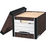 """Bankers Box R-Kive® - Letter/Legal, Woodgrain - Internal Dimensions: 12"""" (304.80 mm) Width x 15"""" (381 mm) Depth x 10"""" (254 mm) Height - External Dimensions: 12.8"""" Width x 16.5"""" Depth x 10.4"""" Height - Media Size Supported: Letter, Legal - Lift-off Clos"""