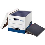 "Bankers Box 73301 Binder Storage Box - Internal Dimensions: 12.25"" (311.15 mm) Width x 18.50"" (469.90 mm) Depth x 12"" (304.80 mm) Height - External Dimensions: 13.1"" Width x 20.1"" Depth x 12.4"" Height - Media Size Supported: Letter, Legal - Lift-off Closu"
