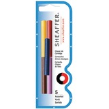 Sheaffer Skrip Fountain Pen Ink Cartridges - Black, Red, Blue, Green, Purple Ink - 5 / Pack