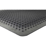 "Genuine Joe Flex Step Rubber Anti-Fatigue Mats - Warehouse - 36"" (914.40 mm) Length x 24"" (609.60 mm) Width - Rubber - Black"