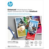 """HP Laser Print Brochure/Flyer Paper - Letter - 8 1/2"""" x 11"""" - 40 lb Basis Weight - Smooth, Glossy - 150 / Pack - White"""