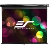 "Elite Screens Manual Pull Down Projection Screen - 45"" x 80"" - Matte White - 92"" Diagonal"
