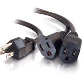 C2G 1-TO-2 Power Cord Splitter - 35.56cm