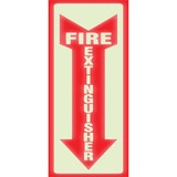 "HeadLine Glow Fire Extinguisher Sign - 1 / Each - Fire Extinguisher Print/Message - 4"" (101.60 mm) Width x 13"" (330.20 mm) Height - Rectangular Shape - White Print/Message Color - Red"