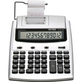 "Victor 12123A Printing Calculator - 2.7 - Extra Large Display, Date, Clock, Antimicrobial, Environmentally Friendly, Item Count, 4-Key Memory, Independent Memory, Dual Power - Battery/Power Adapter Powered - 2.5"" x 7.8"" x 9.8"" - White, Silver - Plastic -"