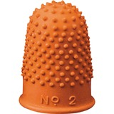 Acme United Heavy-Duty Non-Ventilated Fingertip Pad - Large Size - Rubber - 12 / Pack