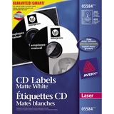 Avery® CD/DVD Label - Permanent Adhesive Length - Laser - White - 200 / Box