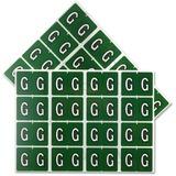 "Pendaflex Color Coded Label - ""Alphabet"" - 1 1/4"" Width x 15/16"" Length - Rectangle - Dark Green - 240 / Pack"