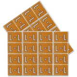 """Pendaflex Colo Coded Label - """"Alphabet"""" - 1 1/4"""" Width x 15/16"""" Length - Rectangle - Light Brown - 240 / Pack"""