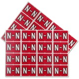 "Pendaflex Color Coded Label - ""Alphabet"" - 15/16"" Width x 1 1/4"" Length - Rectangle - Red - 240 / Pack"