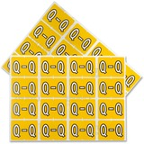 """Pendaflex color Coded Label - """"Alphabet"""" - 1 1/4"""" Width x 15/16"""" Length - Rectangle - Yellow - 240 / Pack"""
