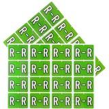 "Pendaflex color Coded Label - ""Alphabet"" - 1 1/4"" Width x 15/16"" Length - Rectangle - Light Green - 240 / Pack"