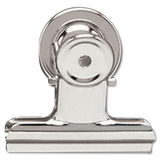 "Acco Magnetic Bulldog Clip - 2"" (50.80 mm) Width - 24 / Box - Silver - Metal"