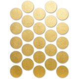 """First Base Gold Imprintable Seal - Round - 1.75"""" (44.45 mm) Diameter - For Certificate, Award - Gold - 200 / Pack"""