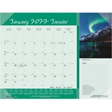 """Blueline Monthly Canadian Provinces Planner - Yes - Monthly - 1 Year - January 2020 till December 2020 - 1 Month Single Page Layout - 21 1/4"""" x 17"""" - Desk Pad - Clear - Vinyl - Bilingual, Notepad, Reference Calendar, Reinforced"""