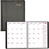 """Blueline Brownline Sixteen Month Planner - Yes - Monthly - 1.3 Year - September 2019 till December 2020 - 8 1/2"""" x 11"""" - Twin Wire - Black - Address Directory, Phone Directory, Tear-off"""