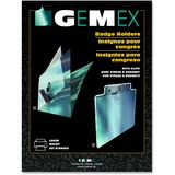 "Gemex Badge Holder with Clip - 2.25"" (57.15 mm) x 3.50"" (88.90 mm) - Acetate - 100 / Box - Clear"