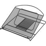 "Safco Onyx Mesh Laptop Stand - 2"" (50.80 mm) Height x 12.25"" (311.15 mm) Width x 12.25"" (311.15 mm) Depth - Steel - Black"