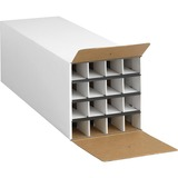 """Safco Compact 16-Compartment KD Roll File - External Dimensions: 12.8"""" Width x 37"""" Depth x 12.5"""" Height - 16 x Tube - Fiberboard - White - For Rolled Document - 1 / Each"""