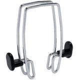 Alba Expandable Over-the-Panel Garment Hooks - 2 Hooks - 20 kg Capacity - for Garment - Polypropylene, Metal - Chrome, Black - 1 Each