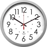 """Chicago Lighthouse 14.5"""" Silver Contemporary Commercial/Residential Quartz Movement Wall Clock"""