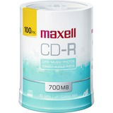 Maxell CD Recordable Media - CD-R - 48x - 700 MB - 100 Pack Spindle - 120mm - Single-layer Layers - Printable - Inkjet, Thermal Printable - 1.33 Hour Maximum Recording Time