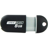 Dane-Elec 8GB Capless USB Pen Drive - Black / Mfr. No.: Da-Zmp-08g-Ca-N4-R