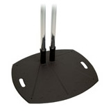 Lightweight Reinforced Floor Stand W/ 60in Dual Chrome Poles / Mfr. no.: PSD-TL60