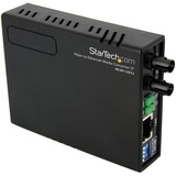 StarTech.com 10/100 Mbps Ethernet to Fiber Optic Media Converter - ST Multimode - 1310nm - 2km - Full/Half Duplex (MCM110ST2) - Convert and extend a 10/100 Mbps Ethernet connection up to 2 km over Multi Mode ST fiber - fiber converter - ethernet media con