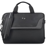 """Solo Sterling Carrying Case for 14"""" to 14.1"""" Notebook - Black - Ballistic Poly, Polyester - Shoulder Strap, Handle - 10.75"""" (273.05 mm) Height x 14"""" (355.60 mm) Width x 2"""" (50.80 mm) Depth"""