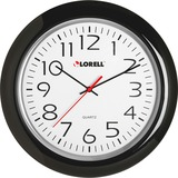 "Lorell 13-1/4"" Round Quartz Wall Clock"