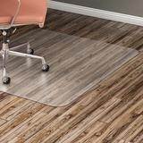 """Lorell Hard Floor 60"""" Rectangular Chairmat - Hard Floor, Wood Floor, Vinyl Floor, Tile Floor - 60"""" (1524 mm) Length x 46"""" (1168.40 mm) Width x 95 mil (2.41 mm) Thickness - Rectangle - Vinyl - Clear"""